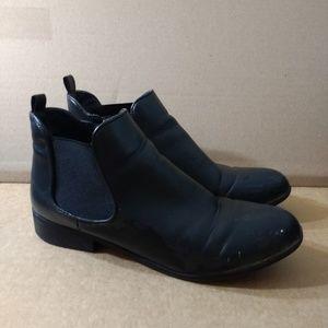 Black Microsuede Ankle Booties